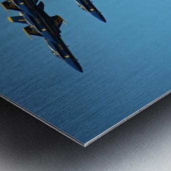 USN Blue Angels Formation Metal print