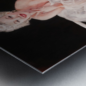 Marilyn ballerina sitting  Metal print