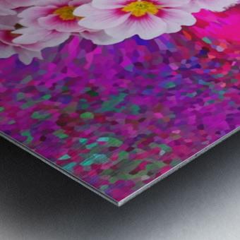 Beautiful colourful flower blossom flower background design floral home decor decoration  Metal print