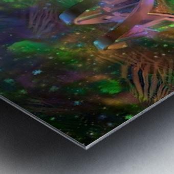 DNA Strand Artwork Metal print