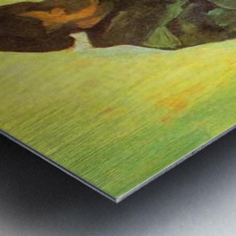 Return of the farmer by Van Gogh Metal print