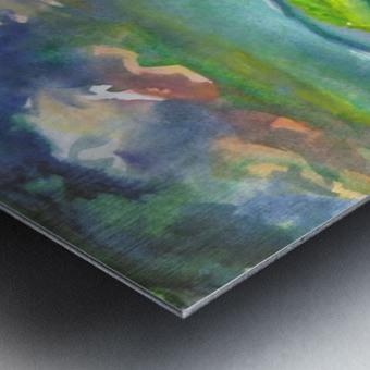 Landscape before a thunderstorm Metal print