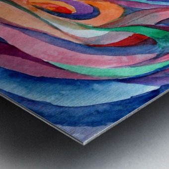 Abstract underwater world Metal print