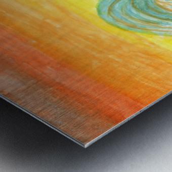 Sea surf at sunset Metal print