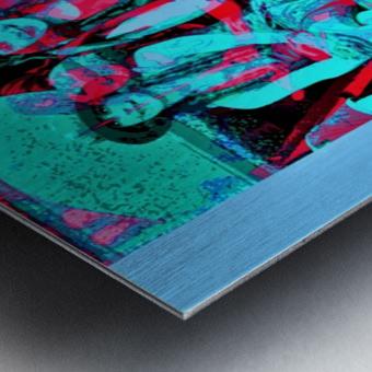 The Umbrella Girls by neil gairn adams  Metal print