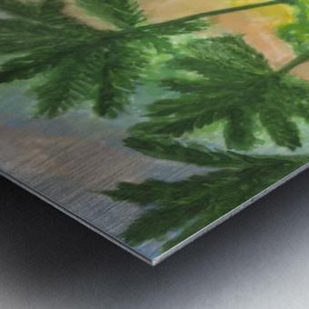Tropical island in the ocean Metal print