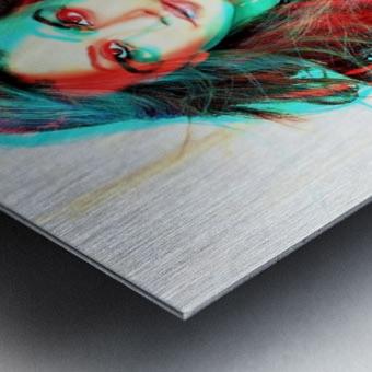 The Model -  by Neil Gairn Adams  Metal print