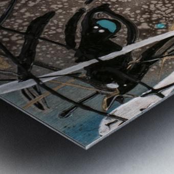3094 - OD steal bleu Metal print