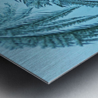 Frosty Blue Metal print