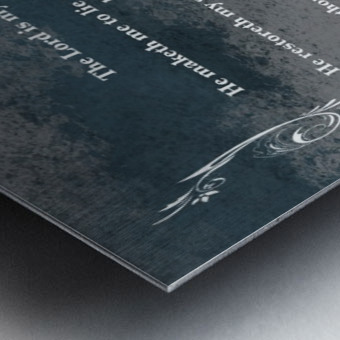 Psalm 23 4CH Metal print