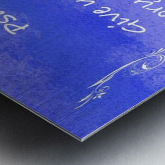 Psalm 29 2 4BL Metal print