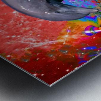 Dolphin Color Splash Metal print