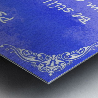 Psalm 46 10 5BL Metal print