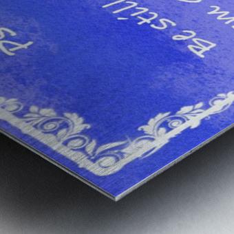 Psalm 46 10 9BL Metal print