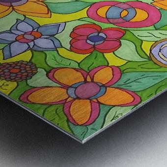 Reflecting Flowers Metal print