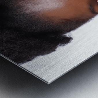 Black Woman Headshot Metal print