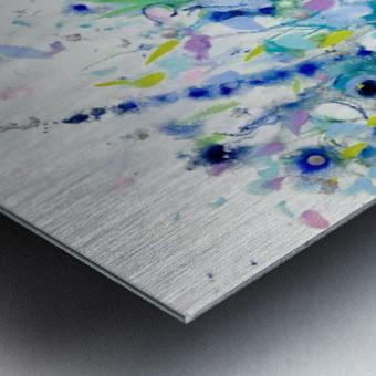 Ultramarine Meadow Metal print