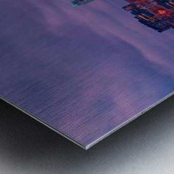 LON 009 Canary Wharf Reflection  Metal print