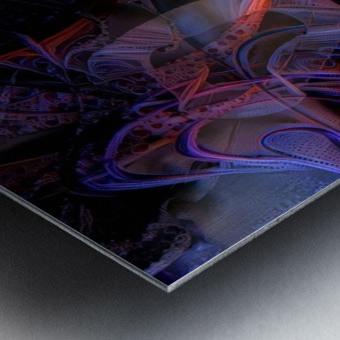 Vivid Magical Abstract Metal print