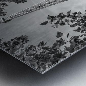 PARIS Eiffel Tower & River Seine | Monochrome Metal print