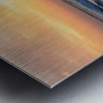 SUNSET AT EL PALMER Metal print
