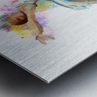 Ballet dancer painting art  Metal print
