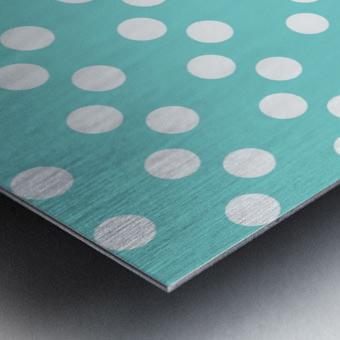 MINT Polka Dots Metal print