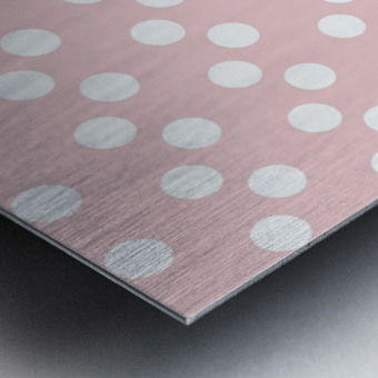 BISQUE Polka Dots Metal print