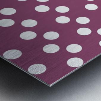 BURGUNDY Polka Dots Metal print