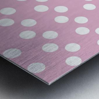 Sweet Lilac Polka Dots Metal print