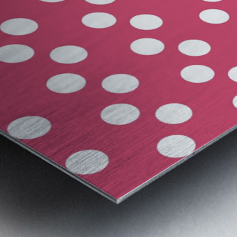 Sweet Pink Polka Dots Metal print