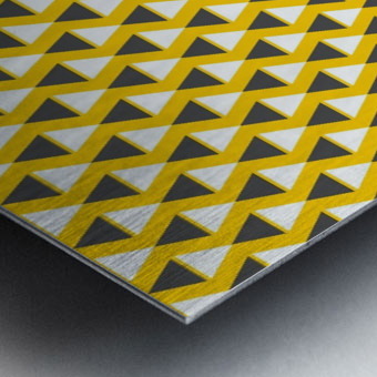 Yellow   pyramid Metal print