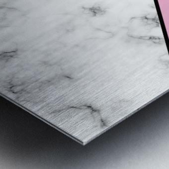 ABSTRACT PINKY MODERN MARBLE Metal print