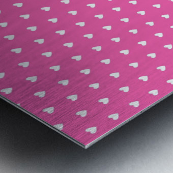Magenta Heart Shape Pattern Metal print