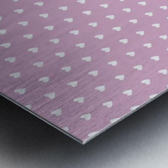 Lavender Heart Shape Pattern Metal print