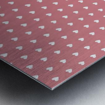 Light Red Heart Shape Pattern Metal print