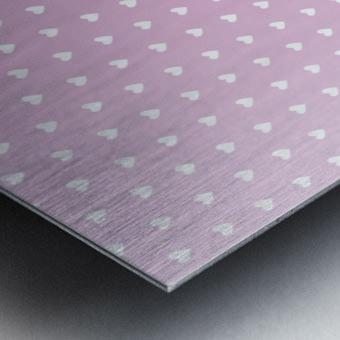 Spring Pink Heart Shape Pattern Metal print