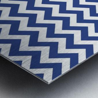 ROYAL BLUE CHEVRON Metal print