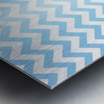 BLUE  PASTEL CHEVRON Metal print