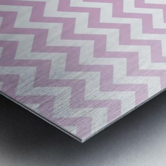 SPRING PINK CHEVRON Metal print