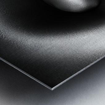 Female nude silver oil close-up 3 Metal print