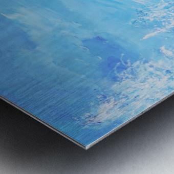 Monochromatic Blue Rocky Mountains Metal print