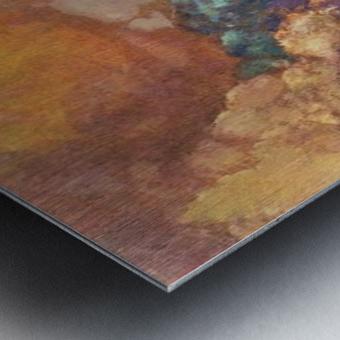 The MUSE on Pegasu by Odilon Redon Metal print