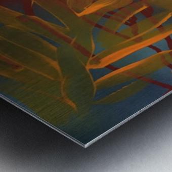 THE LEAF OF LIGHT Metal print