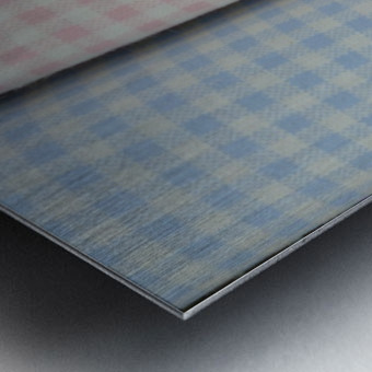 Plaid Metal print
