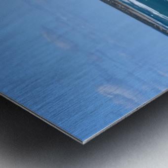 Seashore with waves and blue sky - Cyprus Metal print