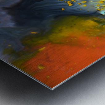 Liquid series 09 Metal print