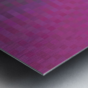 geometric square pixel pattern abstract background in pink and blue Metal print