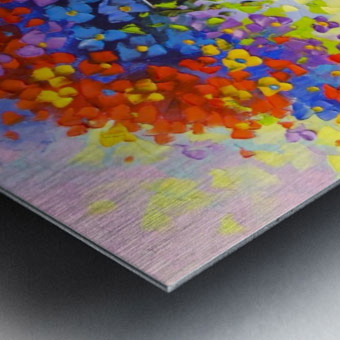 Music of multi-colored flowers Metal print