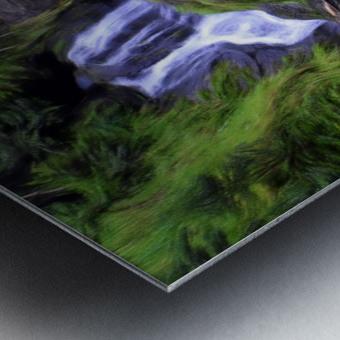 Upper Hanawi Falls Metal print